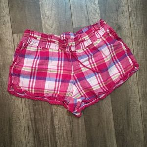 Victoria's Secret Plaid Sleep Shorts